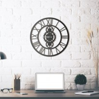 Metal wall Clock Gibson