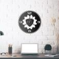 Horloge mural en métal Rotary