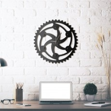 Horloge mural en métal Vortex