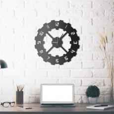 Metal wall Clock Techie