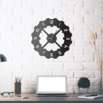 Horloge mural en métal Techie