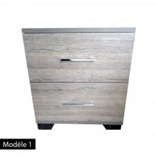Table de nuit 2 tiroirs