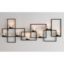 Labyrinth wall-mounted candle holder