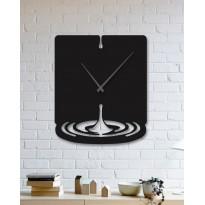 Horloge mural en métal Water drop