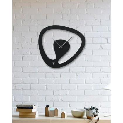 Horloge mural en métal Oval