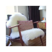 uper Soft Faux Sheepskin Chair Cover Warm Hairy Carpet Seat Pad Fluffy Rugs(white)