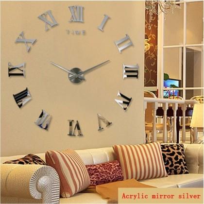 Horloge mural en métal chiffres romains