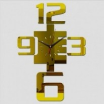 Wall clock 3d sticker