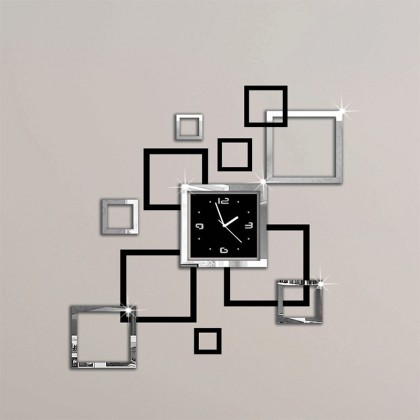 Horloge murale moderne 3d  autocollant