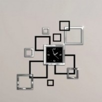 3d sticker modern wall clock
