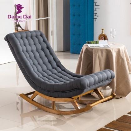Chaise à bascule design lounge bois pour salon Couleur Gris