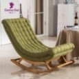 Chaise à bascule design lounge bois pour salon