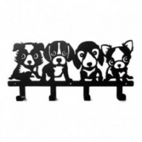 Coat rack/key ring 4 puppies