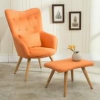 Ensemble fauteuil + repose-pieds