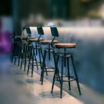 Tabouret de bar industriel vintage