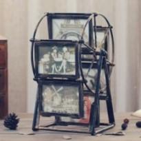 Cadre pour photo créatif design moulin à vent