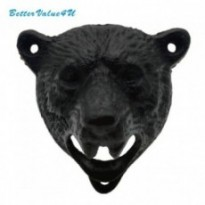 Bear head shaped wall mounted bottle opener