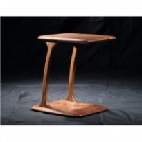Table d'appoint 100 % noyer massif
