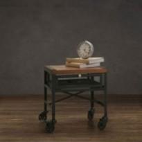 Table à café avec tiroir design rétro