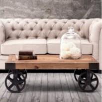Table classique de mode en bois et fer