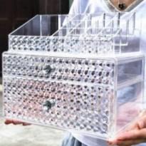 Boîte de rangement cosmétique agrandisssement acrylique transparent