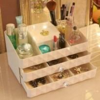 Boîte de rangement cosmétiques de mode 2 tiroirs dressing commode.