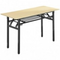 Collapsible rectangular table for event meeting school study
