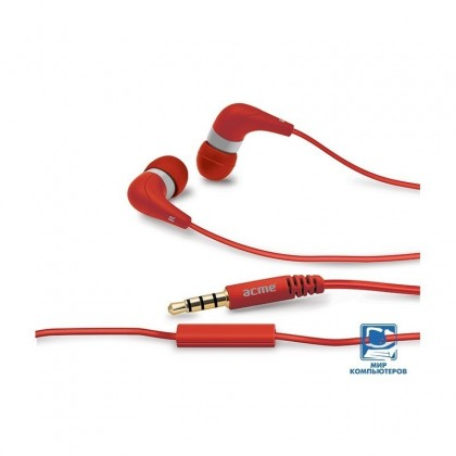 Ecouteurs Groovy intra-auriculaires avec micro ACME HE15R Rouge