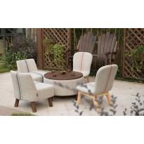 Table basse 100% bois et pur coton