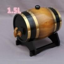 Spécial  baril  cylindrique en bois de chène 1,5L pour bière et vin