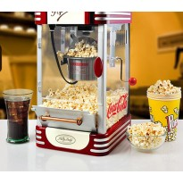 Electric American style popcorn machine mini automatic hot oil popcorn maker stainless steel non-sti