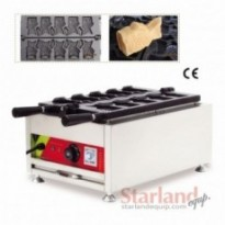 Commercial ice cream taiyaki maker 5 moulds open-mounth fish waffle machine street snack machine 220