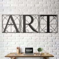 Tableau déco en acier Da Vinci - Vitruvian Letters