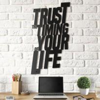 Tableau déco en acier Trust