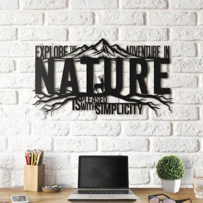 Tableau déco en acier Nature