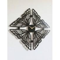 Horloge mural en métal Papillon