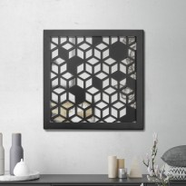 Miroir en acier Nid d'abeille