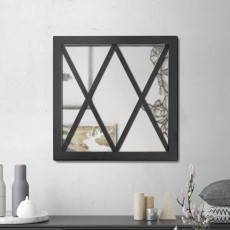 Miroir en acier Croix