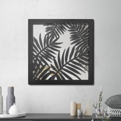 Miroir en acier Palmier Areca