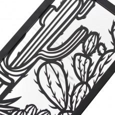 Miroir en acier Cactus