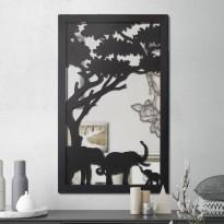 Miroir en acier Famille d'éléphant