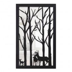Miroir en acier Forêt