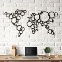 Tableau déco en acier Cercle de carte du monde
