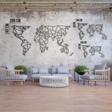 Tableau déco en acier Carte du monde XXXL