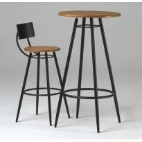 Round wooden Vinyl table