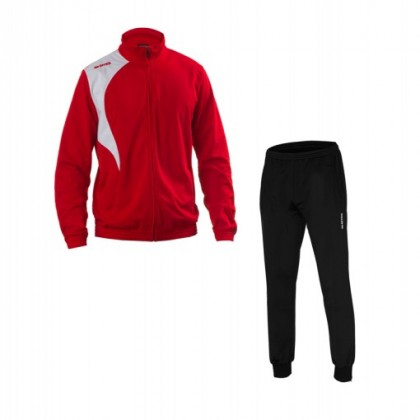 ERREA Kit Tracksuit Clayton -Red White+ Sintra