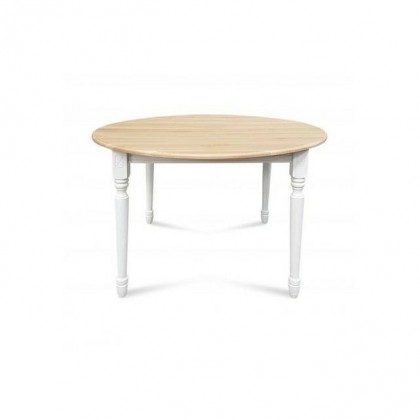 Table ronde aux 4 pieds sculptés en 100% bois rouge massif
