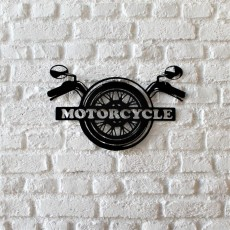 Tableau déco en acier Motorcycle