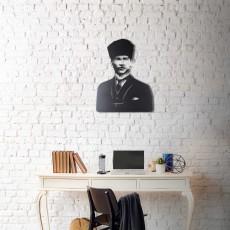 Tableau déco en acier Atatürk