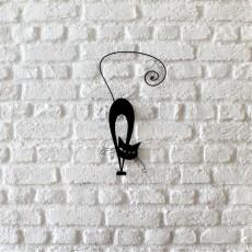 Metal wall art Cat